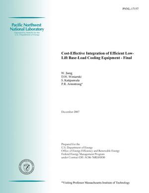 Primary view of object titled 'Cost-Effective Integration of Efficient Low-Lift Base Load Cooling Equipment'.