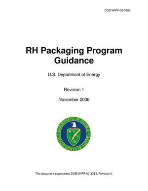 Primary view of object titled 'RH Packaging Program Guidance'.