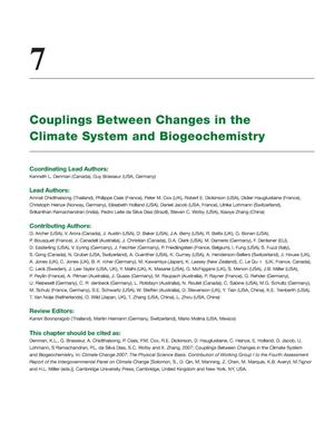 Primary view of object titled 'Couplings between changes in the climate system and biogeochemistry'.