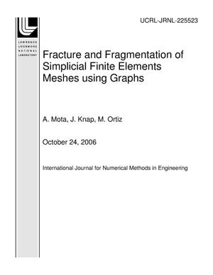 Primary view of object titled 'Fracture and Fragmentation of Simplicial Finite Elements Meshes using Graphs'.