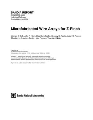 Primary view of object titled 'Microfabricated wire arrays for Z-pinch.'.