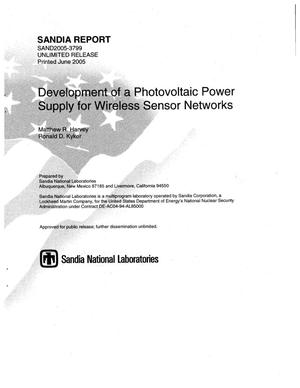 Primary view of object titled 'Development of a photovoltaic power supply for wireless sensor networks.'.