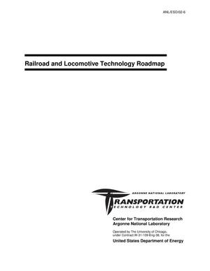 Primary view of object titled 'Railroad and locomotive technology roadmap.'.