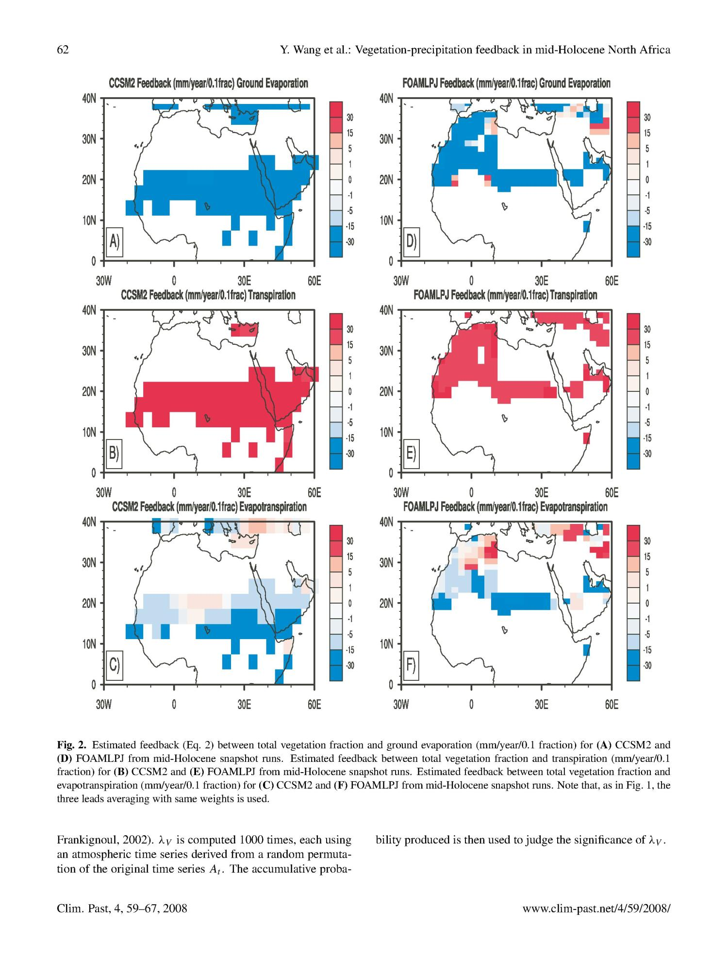Detecting vegetation-precipitation feedbacks in mid-Holocene North Africa from two climate models                                                                                                      [Sequence #]: 4 of 9