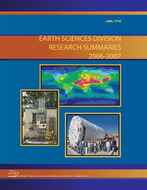 Primary view of object titled 'Earth Sciences Division Research Summaries 2006-2007'.