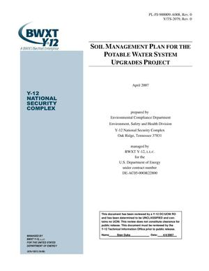Primary view of object titled 'Soil Management Plan For The Potable Water System Upgrades Project'.