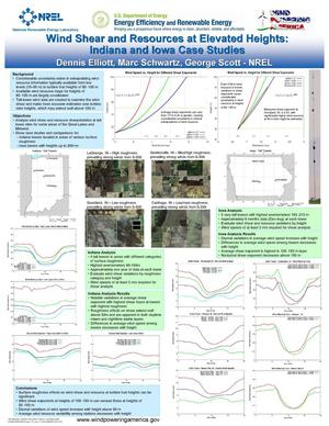 Primary view of object titled 'Wind Shear and Resources at Elevated Heights: Indiana and Iowa Case Studies (Poster)'.