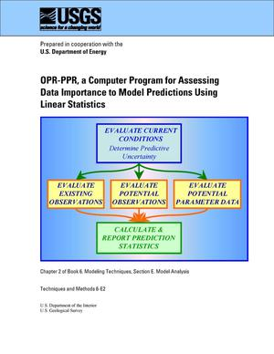 Primary view of object titled 'OPR-PPR, a Computer Program for Assessing Data Importance to Model Predictions Using Linear Statistics'.