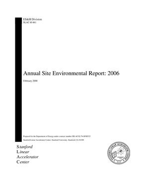 Primary view of object titled 'Annual Site Environmental Report: 2006'.