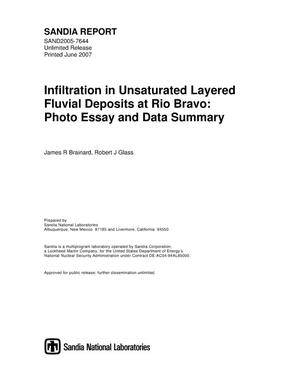 Primary view of object titled 'Infiltration in unsaturated layered fluvial deposits at Rio Bravo : photo essay and data summary.'.