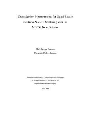 Primary view of object titled 'Cross section measurements for quasi-elastic neutrino-nucleus scattering with the MINOS near detector'.