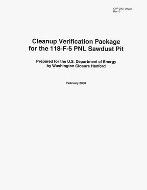 Primary view of object titled 'Cleanup Verification Package for the 118-F-5 PNL Sawdust Pit'.