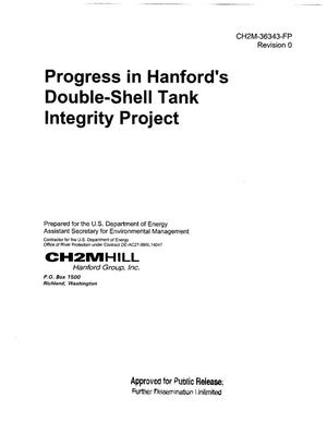 Primary view of object titled 'PROGRESS IN HANFORDS DOUBLE SHELL TANK (DST) INTEGRITY PROJECT'.