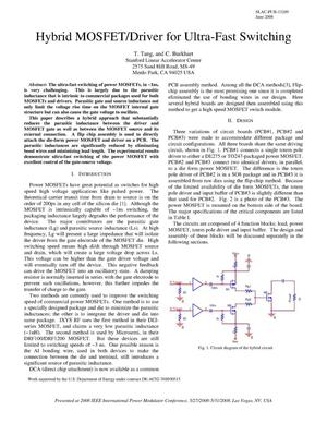 Primary view of object titled 'Hybrid MOSFET/Driver for Ultra-Fast Switching'.