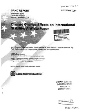 Primary view of object titled 'Climate change effects on international stability : a white paper.'.