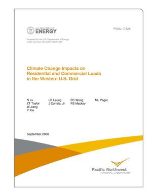 Primary view of object titled 'Climate Change Impacts on Residential and Commercial Loads in the Western U.S. Grid'.