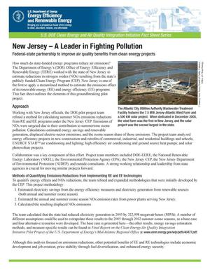 Primary view of object titled 'New Jersey - A Leader in Fighting Pollution'.