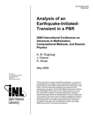 Primary view of object titled 'Analysis of an Earthquake-Initiated-Transient in a PBR'.