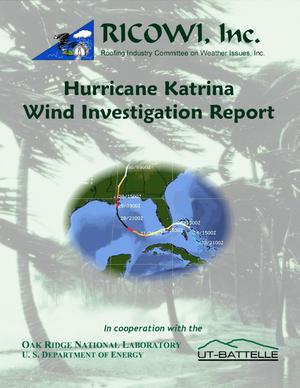 Primary view of object titled 'Hurricane Katrina Wind Investigation Report'.