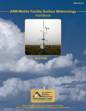 Primary view of object titled 'ARM mobile facility surface meteorology (MET) handbook.'.