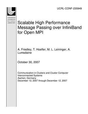 Primary view of object titled 'Scalable High Performance Message Passing over InfiniBand for Open MPI'.