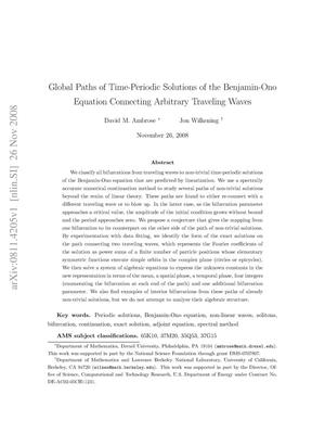 Primary view of object titled 'Global paths of time-periodic solutions of the Benjamin-Ono equation connecting arbitrary traveling waves'.