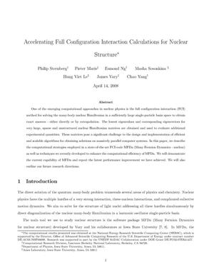 Primary view of object titled 'Accelerating Full Configuration Interaction Calculations for Nuclear Structure'.