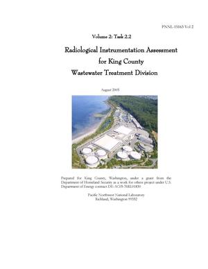 Primary view of object titled 'Radiological Instrumentation Assessment for King County Wastewater Treatment Division'.