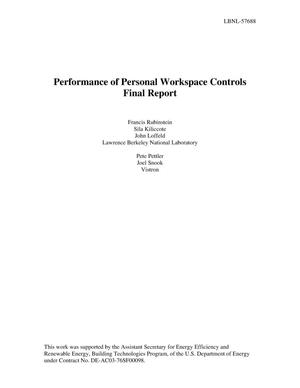 Primary view of object titled 'Performance of Personal Workspace Controls Final Report'.