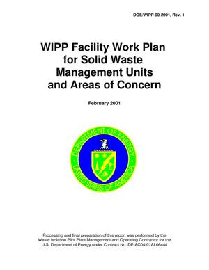 Primary view of object titled 'WIPP Facility Work Plan for Solid Waste Management Units'.