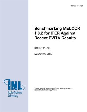 Primary view of object titled 'Benchmarking MELCOR 1.8.2 for ITER Against Recent EVITA Results'.