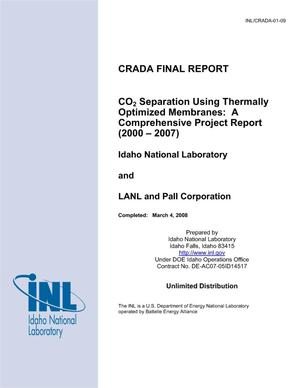 Primary view of object titled 'CO2 Separation Using Thermally Optimized Membranes: A Comprehensive Project Report (2000 - 2007)'.