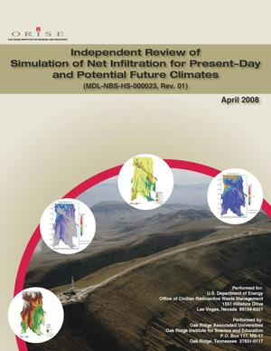 Primary view of Independent Review of Simulation of Net Infiltration for Present-Day and Potential Future Climates