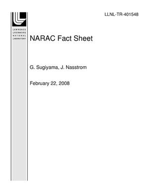 Primary view of object titled 'NARAC Fact Sheet'.
