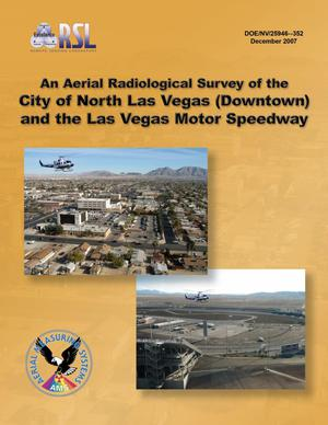 Primary view of object titled 'An Aerial Radiological Survey of the City of North Las Vegas (Downtown) and the Motor Speedway'.