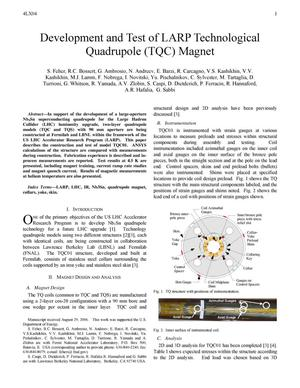Primary view of object titled 'Development and Test of LARP Technological Quadrupole (TQC) Magnet'.