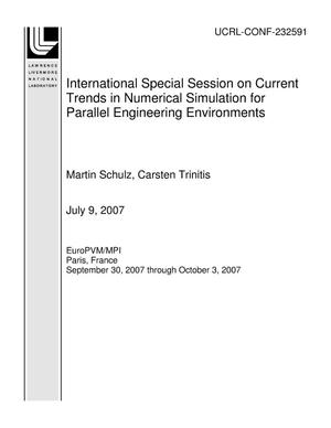 Primary view of object titled '6th International Special Session on Current Trends in Numerical Simulation for Parallel Engineering Environments'.