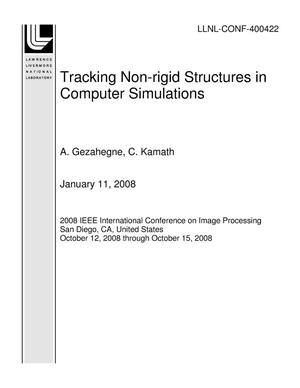 Primary view of object titled 'Tracking Non-rigid Structures in Computer Simulations'.