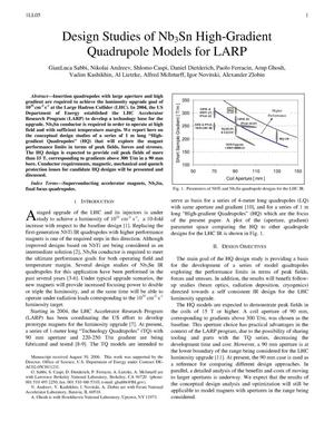 Primary view of object titled 'Design Studies of Nb3Sn High-Gradient Quadrupole Models for LARP'.