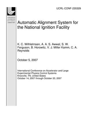 Primary view of object titled 'Automatic Alignment System for the National Ignition Facility'.