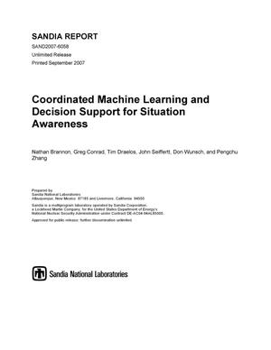 Primary view of object titled 'Coordinated machine learning and decision support for situation awareness.'.