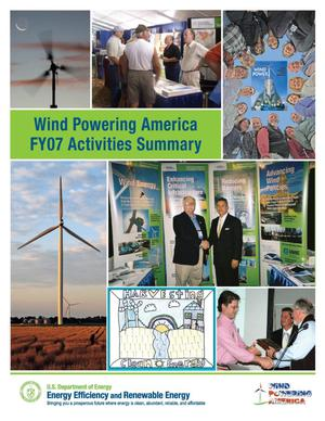 Primary view of object titled 'Wind Powering America FY07 Activities Summary'.