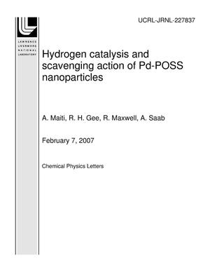 Primary view of object titled 'Hydrogen catalysis and scavenging action of Pd-POSS nanoparticles'.