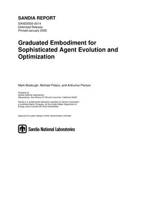 Primary view of object titled 'Graduated embodiment for sophisticated agent evolution and optimization.'.