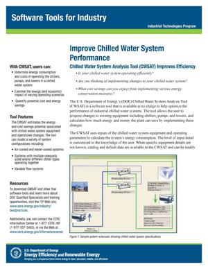 Primary view of object titled 'Improve Chilled Water System Performance, Software Tools for Industry, Industrial Technologies Program (ITP) (Fact Sheet)'.