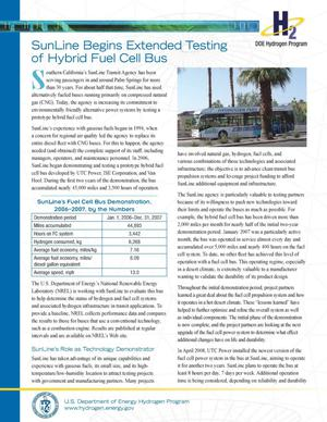 Primary view of object titled 'SunLine Begins Extended Testing of Hybrid Fuel Cell Bus'.