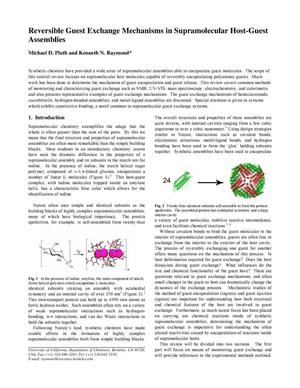 Primary view of object titled 'Reversible Guest Exchange Mechanisms in Supramolecular Host-Guest Assemblies'.
