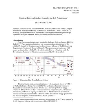 Primary view of object titled 'Machine-Detector Interface Issues for the ILCPolarimeters'.