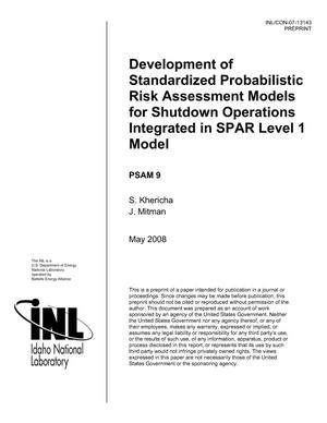 Primary view of object titled 'Development of Standardized Probabilistic Risk Assessment Models for Shutdown Operations Integrated in SPAR Level 1 Model'.