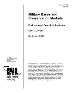 Primary view of object titled 'Military Bases and Conservation Markets'.